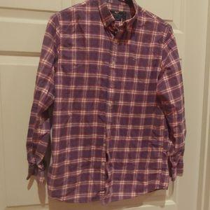 Boys Vineyard Vines flannel button down shirt